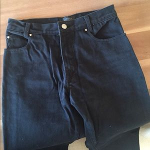 Versace Ittierre High Waisted Black Jeans